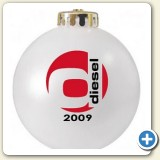 Corporate logo promotional Christmas ornament