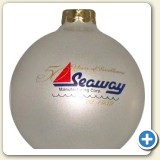 Custom logo Christmas ornament glass