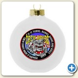 full color logo ornament custom