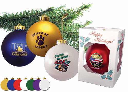 Corporate Christmas Ornaments - Custom Imprinted with ...